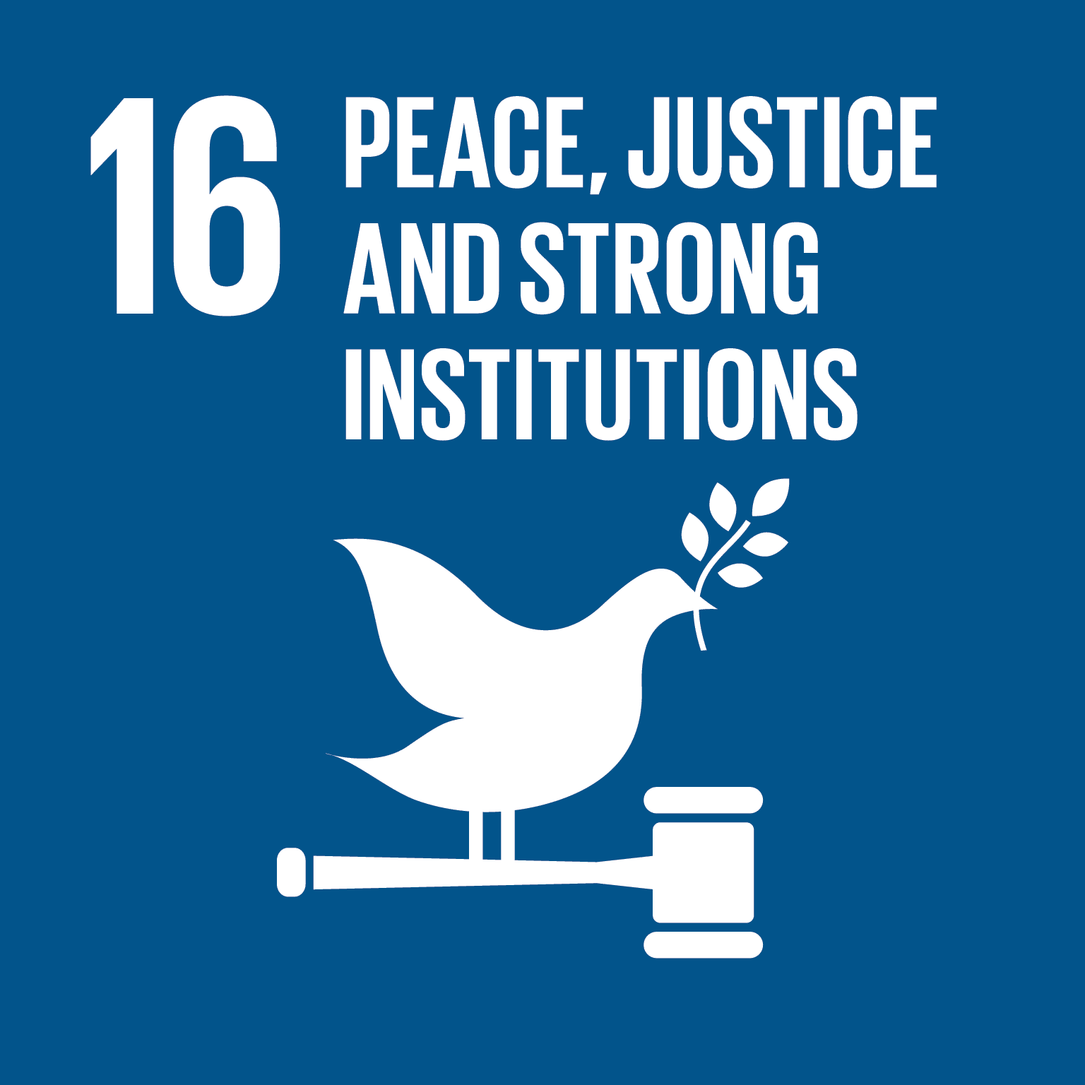 SDG 16 - Peace, justice & strong institutions