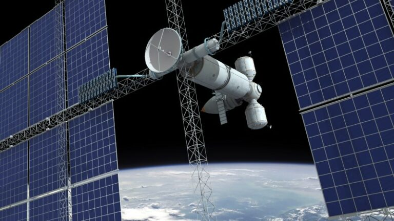 Solar power stations in space as energy source